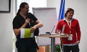 Jan Kvasnička a Pavel Ungr na přednášce na Affiliate konferenci